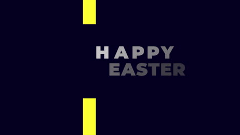 Animation-text-Happy-Easter-on-black-fashion-and-minimalism-background-with-yellow-geometric-lines