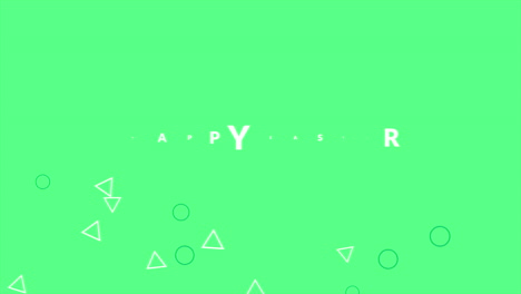 Animation-text-Happy-Easter-on-green-fashion-and-minimalism-background-with-small-geometric-shape