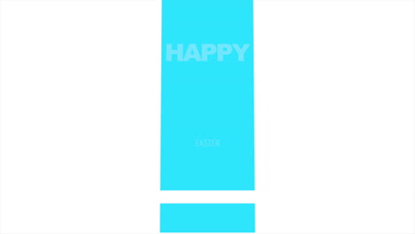 Animation-text-Happy-Easter-on-white-fashion-and-minimalism-background-with-blue-geometric-squares