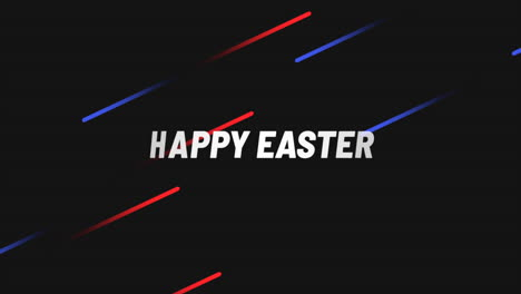 Animation-text-Happy-Easter-on-black-fashion-and-minimalism-background-with-blue-and-red-neon-lines
