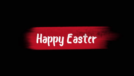 Animation-text-Happy-Easter-on-red-fashion-and-brush-background