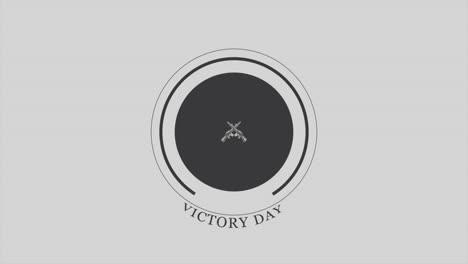 Día-De-La-Victoria-De-Texto-De-Animación-Sobre-Fondo-Militar-Con-Pistolas