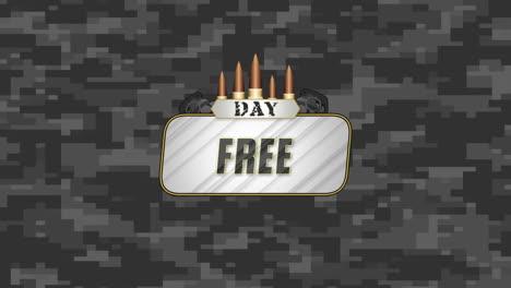 Día-Libre-De-Texto-De-Animación-Sobre-Fondo-Gris-Militar-Con-Patrocinadores