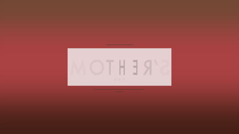 Animation-text-Mothers-Day-on-red-fashion-and-minimalism-background-with-geometric-square