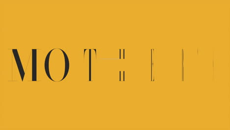 Animation-text-Mothers-Day-on-yellow-fashion-and-minimalism-background