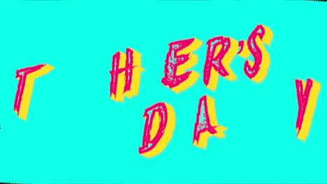 Animación-Texto-Día-De-La-Madre-Sobre-Fondo-Verde-Hipster-Y-Grunge