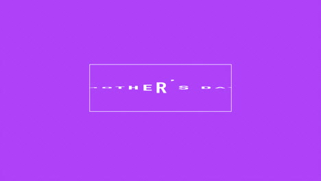 Animation-text-Mothers-Day-on-purple-fashion-and-minimalism-background