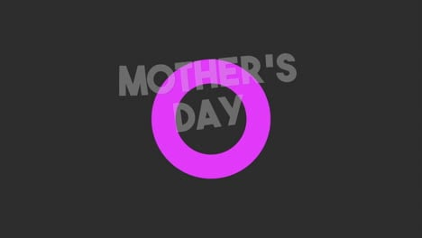 Animation-text-Mothers-Day-on-black-fashion-and-minimalism-background-with-purple-circle