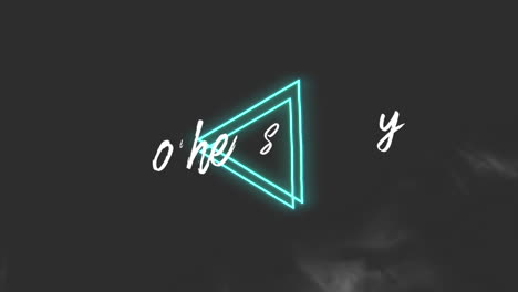 Animation-text-Mothers-Day-on-fashion-and-club-background-with-glowing-green-triangles