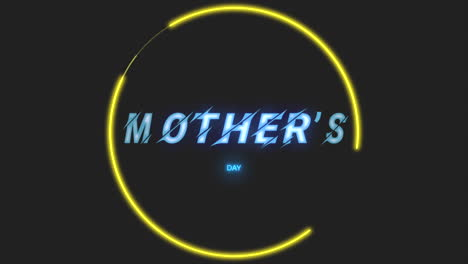 Animation-text-Mothers-Day-on-fashion-and-club-background-with-glowing-green-triangles-2