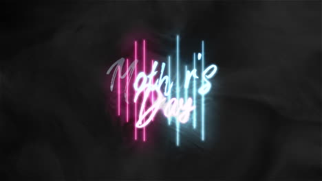 Animation-text-Mothers-Day-on-fashion-and-club-background-with-glowing-neon-lines-1