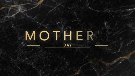 Animation-text-Mothers-Day-on-black-fashion-and-marble-background