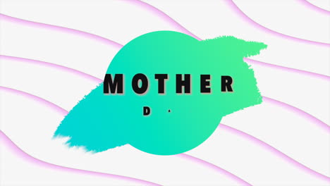 Animation-text-Mothers-Day-on-white-fashion-and-minimalism-background-with-waves