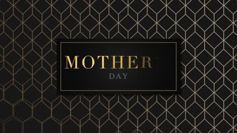 Animation-text-Mothers-Day-on-black-fashion-and-minimalism-background-with-gold-cubes