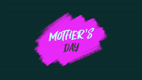 Animation-text-Mother-Day-on-purple-fashion-and-brush-background