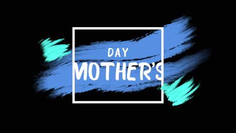 Texto-De-Animación-Día-De-La-Madre-Sobre-Fondo-Verde-Y-Azul-De-Moda-Y-Pincel
