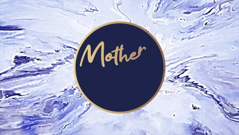 Animation-text-Mothers-Day-on-blue-fashion-and-marble-background