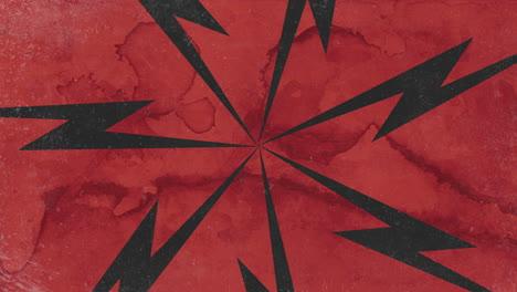 Movimiento-Abstracto-Negro-Rayos-Rojo-Grunge-Plano-De-Fondo