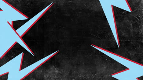 Motion-abstract-blue-thunderbolt-black-grunge-background