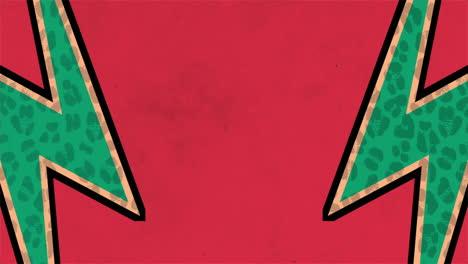 Movimiento-Abstracto-Rayos-Verdes-Fondo-Rojo-Grunge