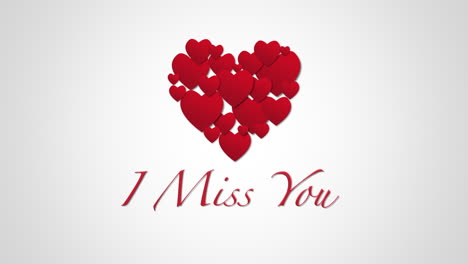 Animated-closeup-I-Miss-You-text-and-motion-romantic-small-red-hearts-on-Valentines-day-background-2