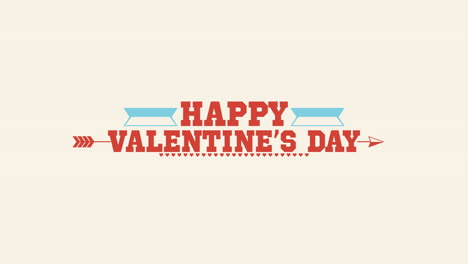 Animated-closeup-Happy-Valentines-Day-text-and-motion-arrow-on-white-Valentines-day-background