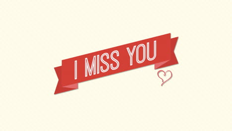 Animated-closeup-I-Miss-You-text-and-motion-romantic-small-red-heart-on-Valentines-day-background