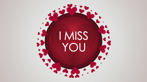 Animated-closeup-I-Miss-You-text-and-motion-romantic-small-red-hearts-on-Valentines-day-background