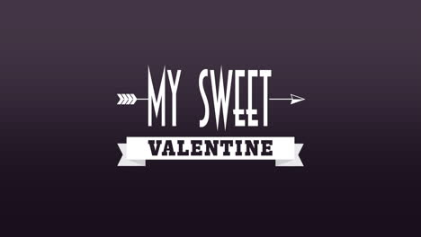 Animated-closeup-My-Sweet-Valentine-text-and-motion-romantic-arrow-on-Valentines-day-background