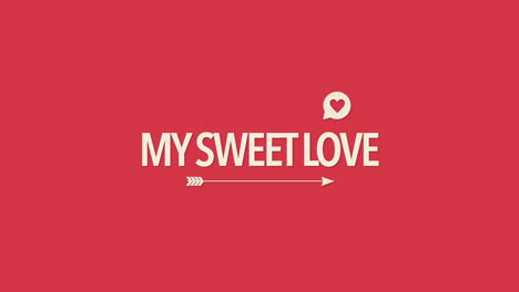Animated-closeup-My-Sweet-Love-text-and-motion-romantic-heart-with-arrow-on-Valentines-day