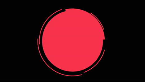 Movimiento-Abstracto-Geométrico-Círculos-Rojos-Fondo-Retro