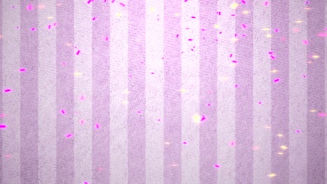 Animación-Closeup-Volar-Confeti-De-Colores-Sobre-Fondo-Rosa-Brillante-Del-Día-De-San-Valentín