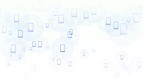 Motion-Smartphone-icons-on-simple-network-background