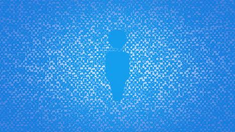Iconos-De-Persona-De-Movimiento-Sobre-Fondo-De-Red-Simple
