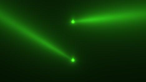 Animación-Movimiento-Verde-Brillante-Foco-Rayos-Sobre-Fondo-Oscuro-En-Etapa-3