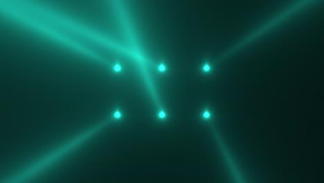Animación-Movimiento-Verde-Brillante-Foco-Rayos-Sobre-Fondo-Oscuro-En-Etapa-1