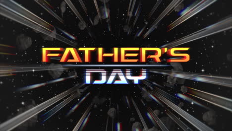 Animation-text-Fathers-day-and-retro-abstract-lines-in-galaxy-holiday-background