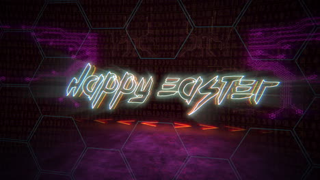 Animation-text-Happy-Easter-and-cyberpunk-animation-background-with-computer-chip-and-neon-lights-4