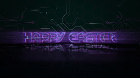Animation-text-Happy-Easter-and-cyberpunk-animation-background-with-computer-chip-and-neon-lights-6