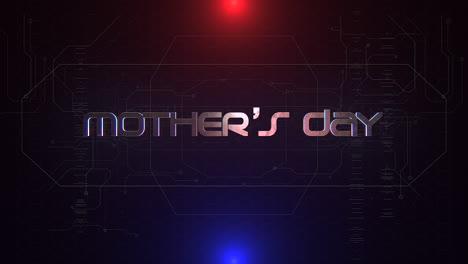Texto-De-Animación-Día-De-La-Madre-Y-Fondo-De-Animación-Cyberpunk-Con-Números-De-Matriz-De-Computadora-Y-Cuadrícula-1