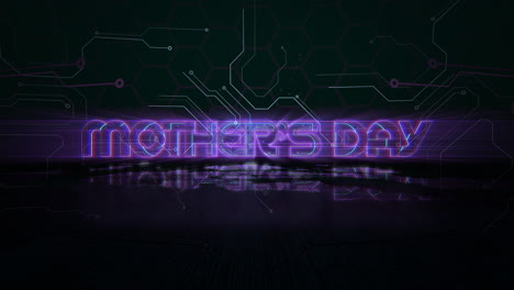 Animation-text-Mother-Day-and-cyberpunk-animation-background-with-computer-chip-and-neon-lights-1