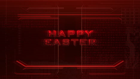Animation-text-Happy-Easter-and-cyberpunk-animation-background-with-computer-chip-and-neon-lights-1