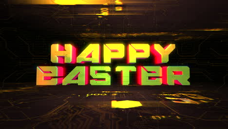 Animation-text-Happy-Easter-and-cyberpunk-animation-background-with-computer-chip-and-neon-lights-2