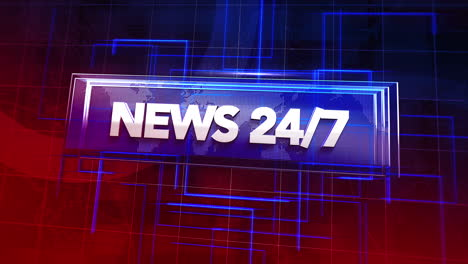 Animación-Texto-24-Noticias-Y-Gráfico-De-Introducción-De-Noticias-Con-Líneas-Y-Mapa-Del-Mundo-En-Fondo-Abstracto-De-Estudio