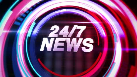 Animationstext-24-Nachrichten-Und-Nachrichten-Intro-Grafik-Mit-Abstrakten-Linien-Im-Studio-Nachrichtenhintergrund