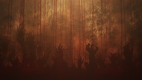 Mystical-horror-background-with-dark-blood-with-hands-abstract-backdrop