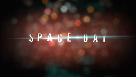 Animation-closeup-Space-Day-text-with-motion-neon-lights-in-galaxy-1