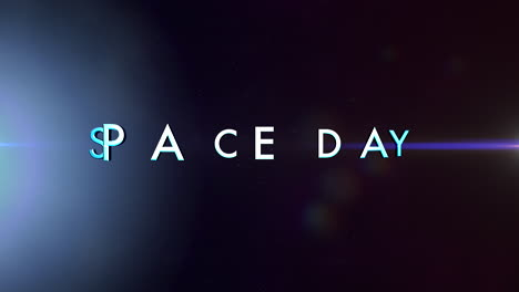 Animación-Primer-Plano-Texto-Del-Día-Del-Espacio-Con-Luces-De-Neón-De-Movimiento-En-La-Galaxia-2