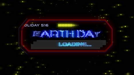 Animación-De-Primer-Plano-El-Texto-Del-Día-De-La-Tierra-En-Una-Pantalla-Futurista-De-Neón-Con-Líneas-Abstractas-Y-Comienza-En-La-Galaxia-1