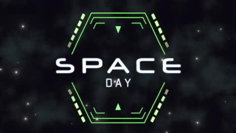 Animación-Primer-Plano-Espacio-Día-Texto-En-Neón-Futurista-Pantalla-Con-Extracto-Formas